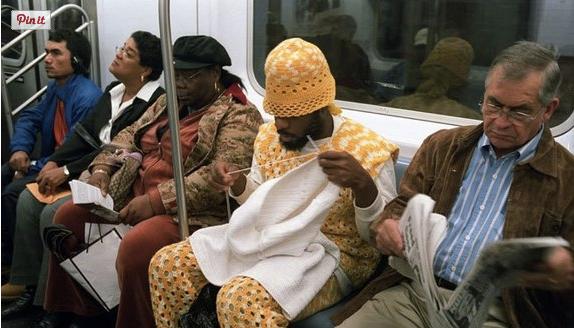 hipster knitting